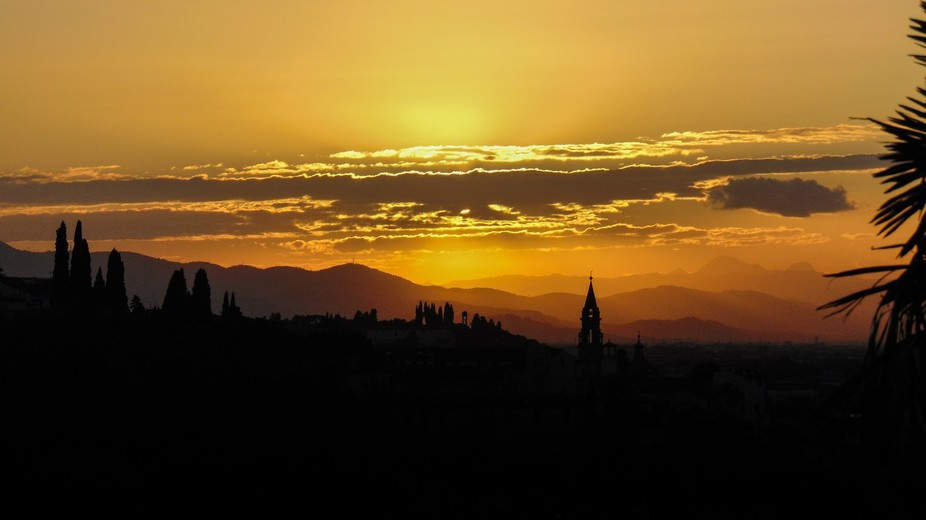 Summer sunset over Florence