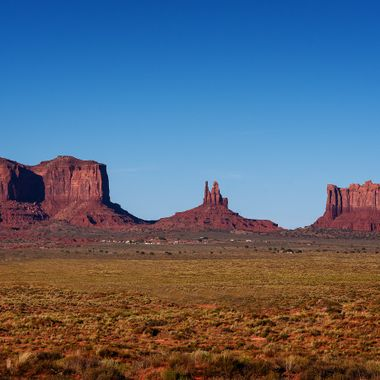 Look into the stunning monument valley