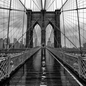 I guess this is a typical tourist shot of the Brooklyn Bridge. I took a heap of more individual and creative shots, but sometimes a simple shot r...