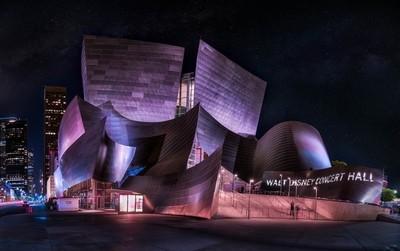 Walt Disney concert Hall by night