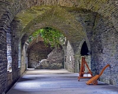Inside old monestary ruins
