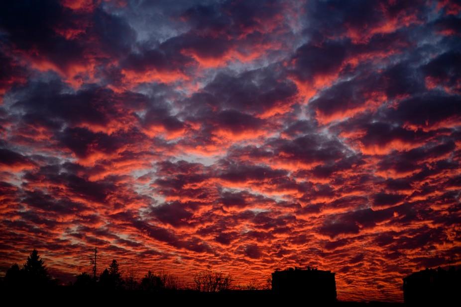 Amazing cloud formations above Belgrade, Serbia.