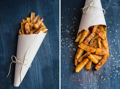 Delicious baked potato wedges