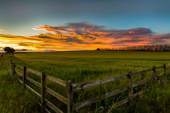Sunset over the fence by MarkGillespiePhotography - Rural Vistas Photo Contest