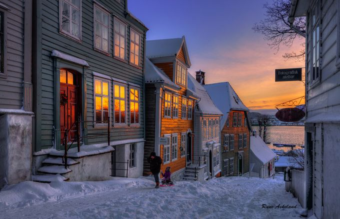 Winter in the city by runeaskeland - My City Photo Contest