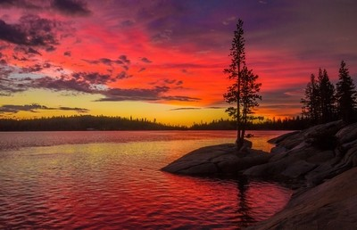 Red Sky over Silver Lake