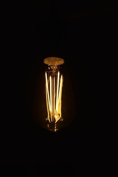 A light bulb showing its true colors