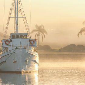 Sitting at her berth, the MFV Tacoma.  With the refreshing chill of the morning fog. Of what she would of seen in many of her working days as a T...