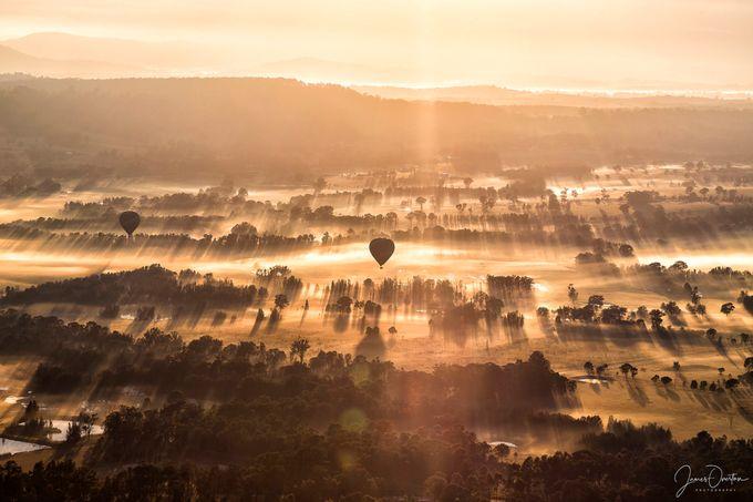 Hunter Sunrise - Balloon Aloft by Jimmmy03 - High Vantage Points Photo Contest