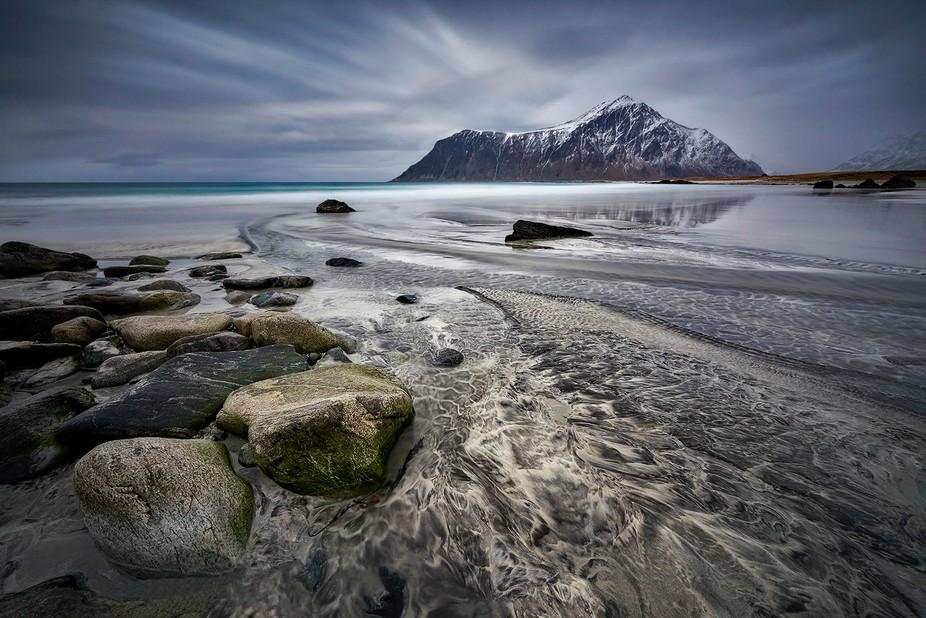 On the beach, Skagsanden Beach , Lofoten, Norway 2017