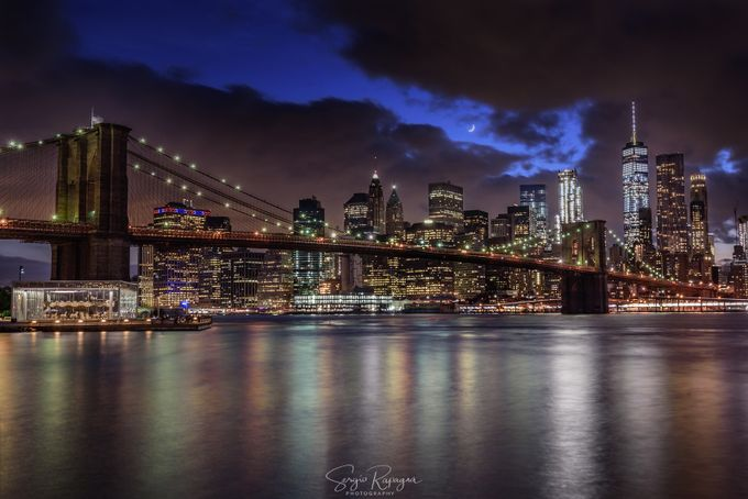 Brooklyn Bridge by Imfree - City In The Night Photo Contest