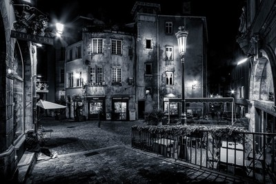 Trinité square in the old Lyon