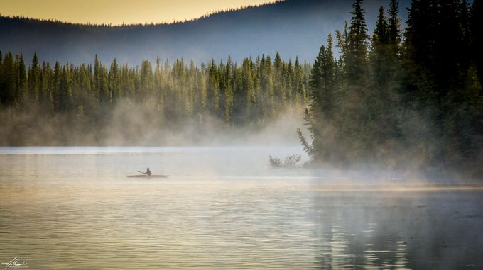 Kayak in the Morning Mist by philipdrispin - Ships And Boats Photo Contest