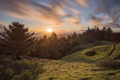 Sunset on Mt. Tam