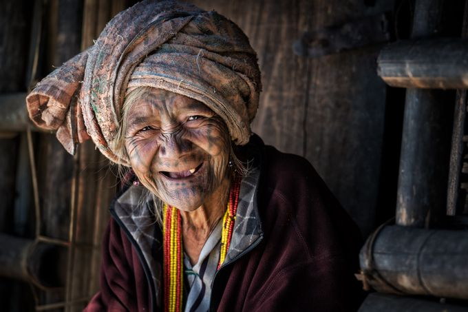 Smiling Chin Lady by zayyarlynn - Cultures of the World Photo Contest