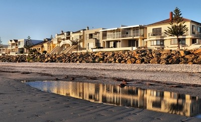 Houses by the beach, Adelaide