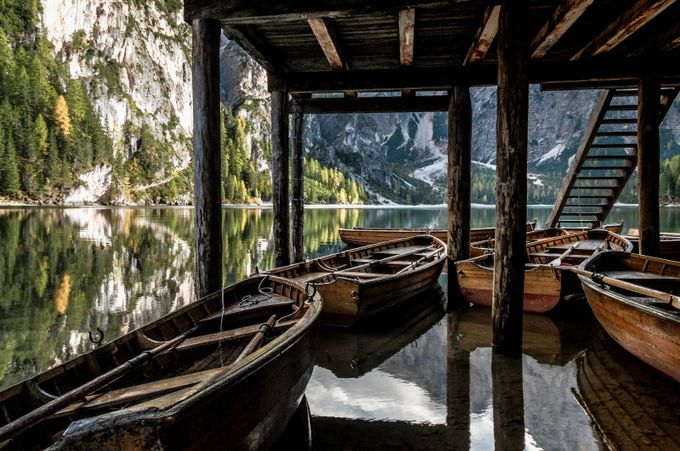 Under the braies pier by Mrc_Tagliarino - The View Under The Pier Photo Contest
