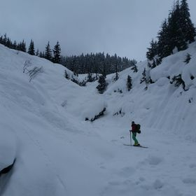 First time ski touring Rogers Pass with my girlfriend. Only seen 2 people all day.