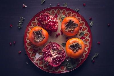 Organic food plate
