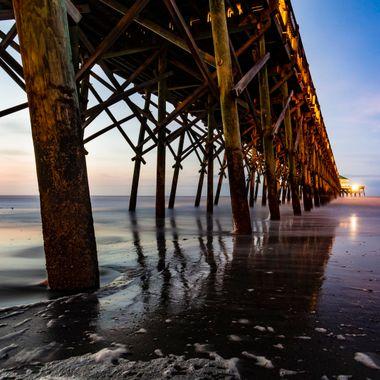 Folly Beach, South Carolina at the pier.