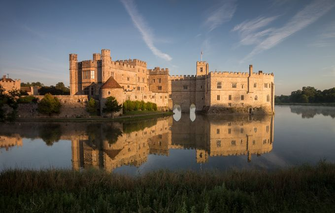 Leeds Castle warming up in the early morning sun by markivaldi - Castles And Fortresses Photo Contest