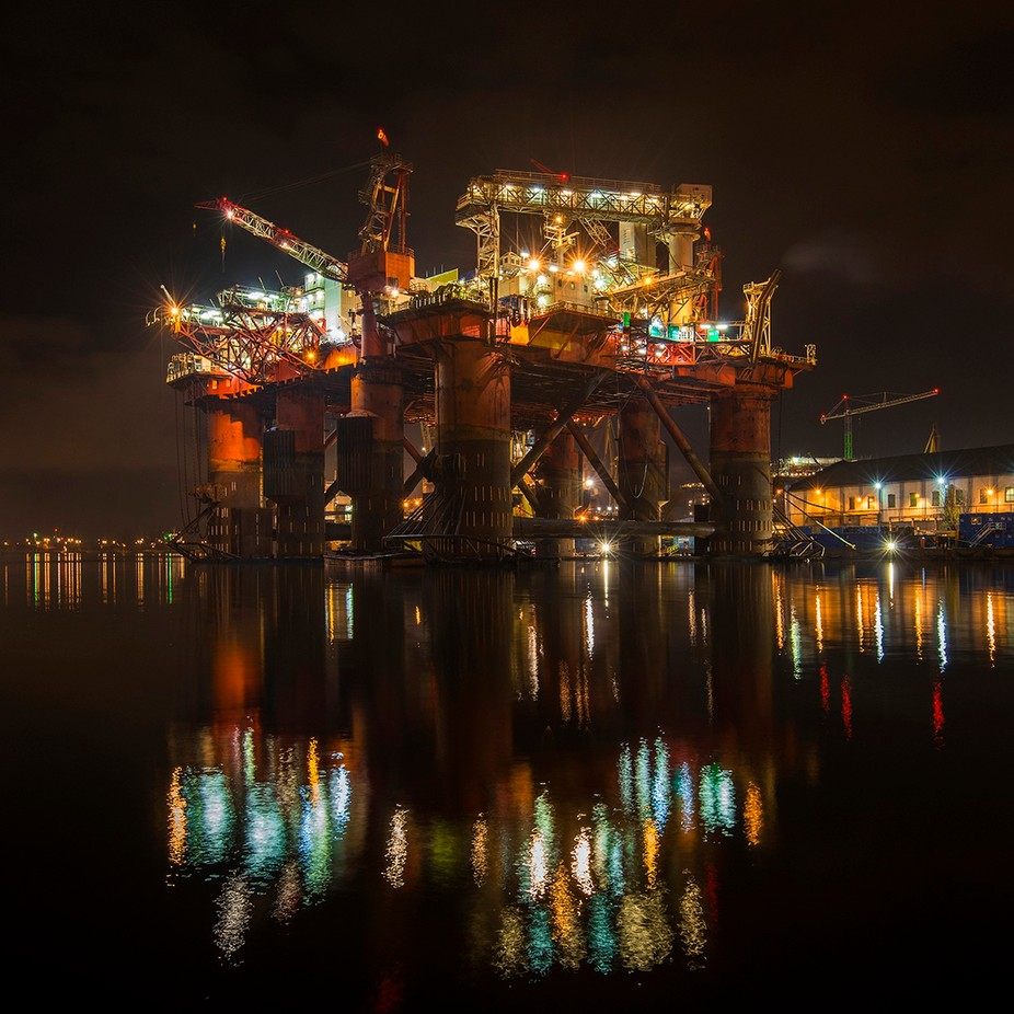 Oil rig by jansieminski - Industry Photo Contest
