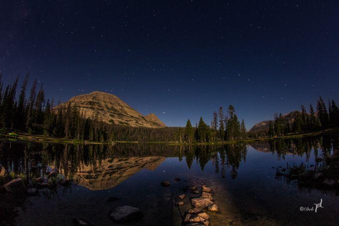 Stars on Mirror Lake by wandererdeb - Night Wonders Photo Contest
