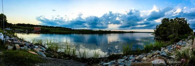 My 1st pano. Taken at bushy park, goose creek, south carolina