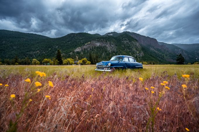 Old Blue Plymouth by StephenBridger - My Favorite Car Photo Contest
