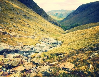 Journey to Scafell Pike, lake district