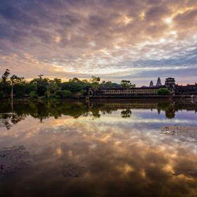 Sunrise over Angkor Wat Temple