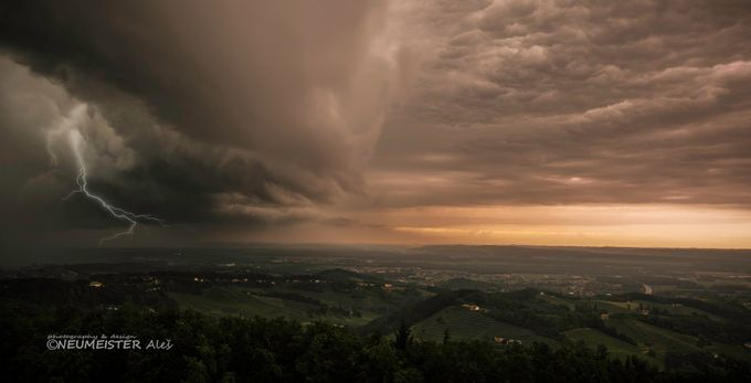A storm cell when she hit Austria, at Wildon by ales_neumeister - A Storm Is Coming Photo Contest