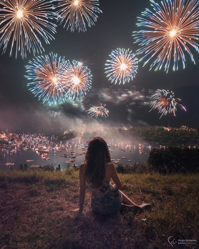 The girl and the fireworks