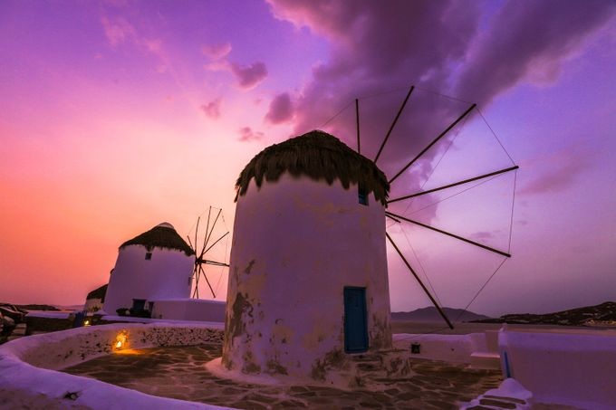 Mykonos windmills sunset by MoMo_Images - Windmills Photo Contest