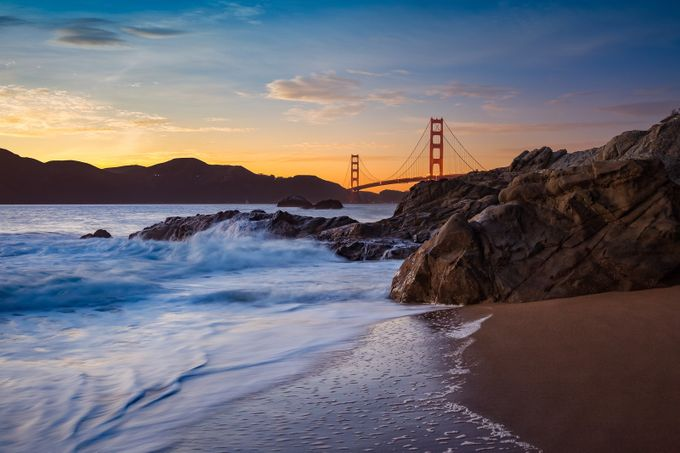 Golden Gate Sunset by rexjones - Rule Of Thirds Photo Contest v4