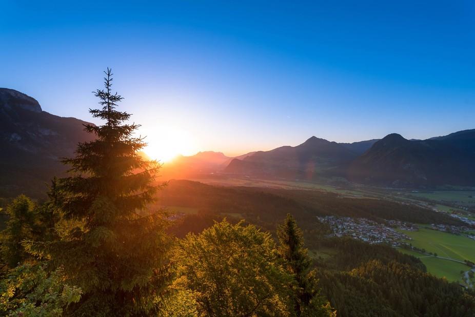 Sunrise from Austria Tyrol