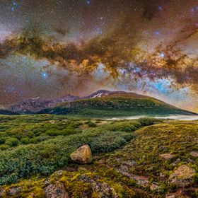 30x50@300dpi) I went back up to Mt. Bierstadt to try to rebate the Milky Way bow pano. Didn't quite get it, and actually ended up having to ...