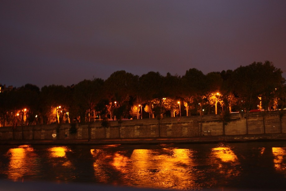 Taken along the Seine River in paris on a summer evening.