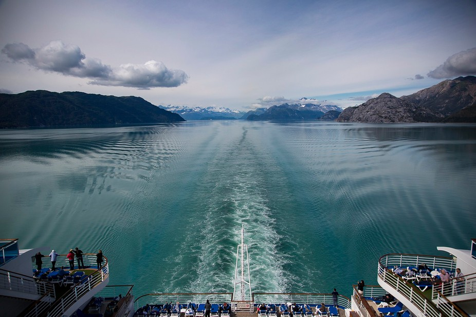 On a cruise from Alaska.