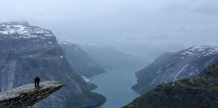 A photo from Troll Tongue, Norway.