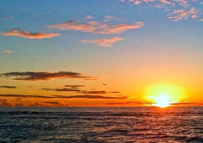 Sunrise from the fishing beach
