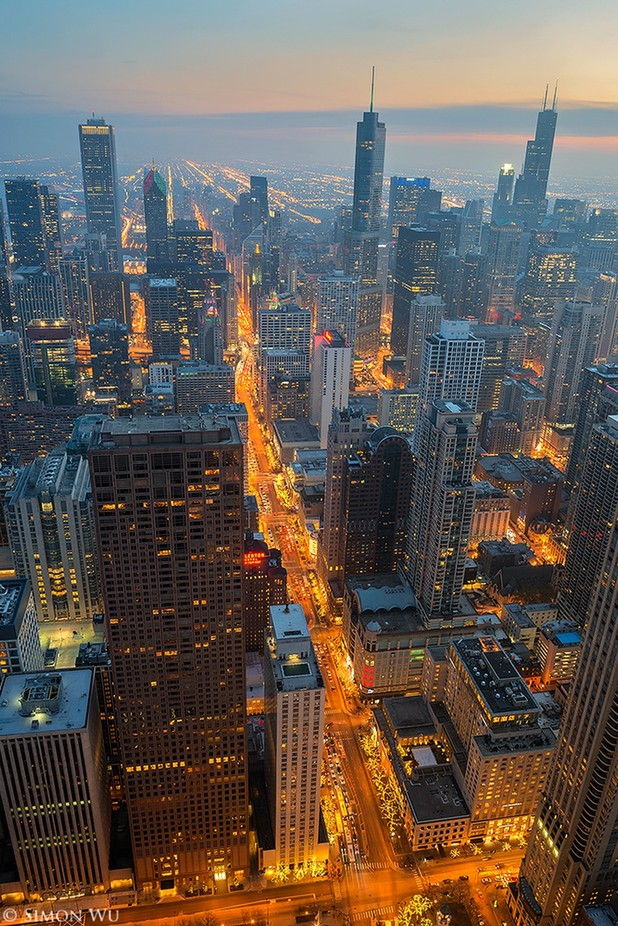 Chicago Lights by simonwu - Rooftops Photo Contest 2018