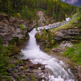 Blakiston Falls, Waterton National Park Improvement District No. 4, AB, Canada. Largest waterfall in the park.