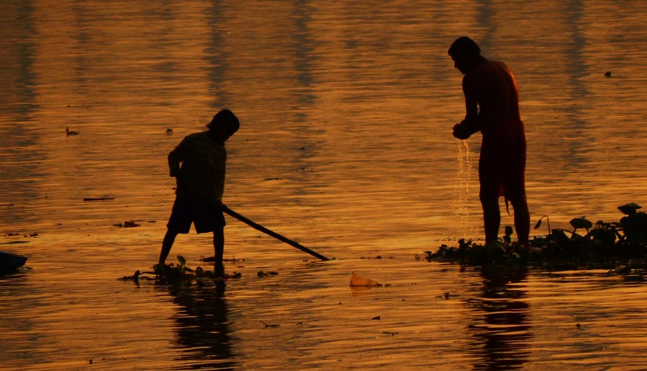 Occasionally at a ghat you witness the lives of people who depend on the river through and throug...