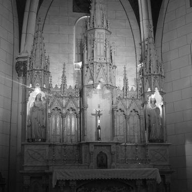 The altar in the Loretto Chapel, Santa Fe, New Mexico.
