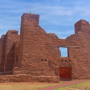 An HDR of the church ruins at the Quarai Pueblo, one of the Salinas Pueblo Missions.
