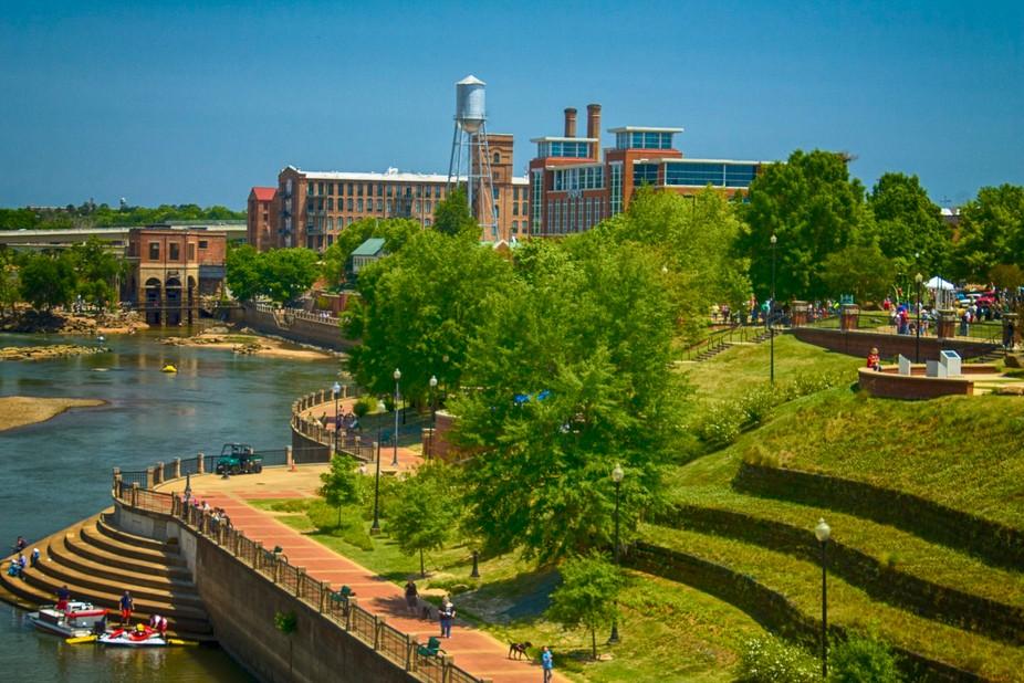 Photo taken from Oglethorpe Bridge, located in Columbus, Georgia.