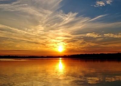 Powers lake sunset 5x7