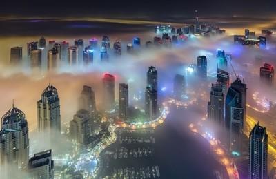 Foggy Nights in Dubai