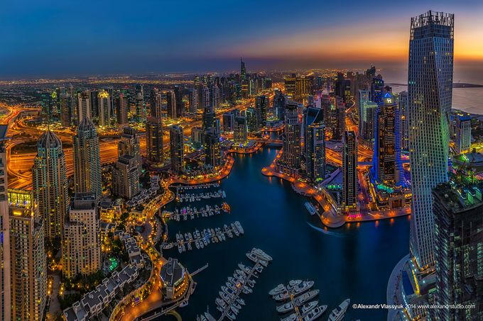 Dubai Marina by alexandrvlassyuk - City In The Night Photo Contest